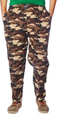 AADUKI Printed Men's Orange Track Pants