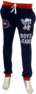 Puppet Nx Printed Boy,s Blue Track Pants