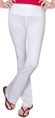 Comfty Solid Women's White Track Pants