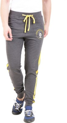 Broken News Printed Men's Grey Track Pants
