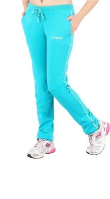 Prova Solid Women's Light Green Track Pants