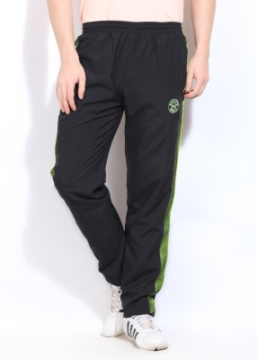 Sports 52 Wear Solid Men's Black Track Pants
