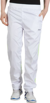 Camey Solid Men's White Track Pants