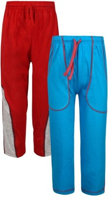 Jazzup Solid Boy's Blue, Red Track Pants