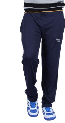 HUMBERT Solid Men's Dark Blue Track Pants