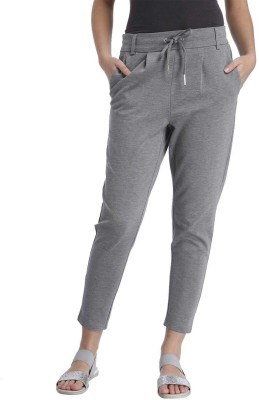 Only Solid Women's Grey Track Pants