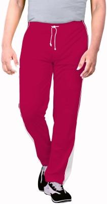 Sportee Solid Men's Red Track Pants