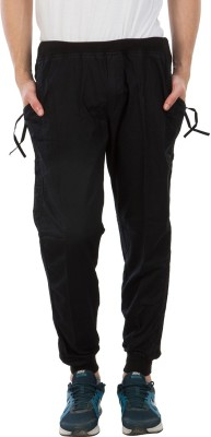 Burdy Solid Men's Black Track Pants