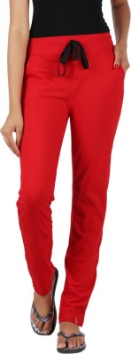 Notyetbyus Solid Women's Red Track Pants