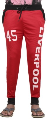 Just Play Solid Men's Red Track Pants