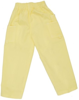 SETVEL Solid Boy's Yellow Track Pants