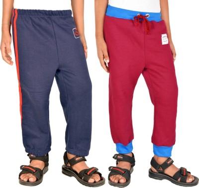 Gkidz Printed Boy,s Dark Blue, Maroon Track Pants