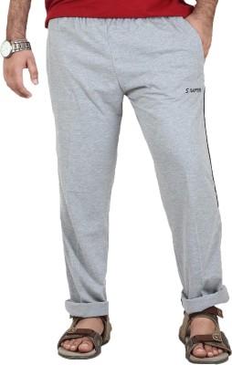 Sapper Solid Men's Grey Track Pants