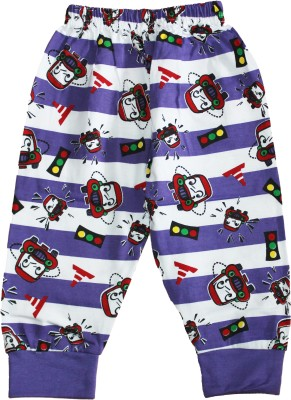 Georgi Striped Baby Boy's Purple Track Pants