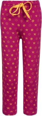 Sweet Angel Printed Girl's Pink Track Pants