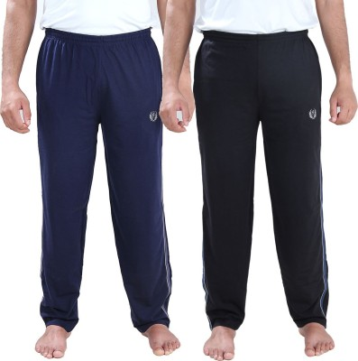 Illicit Nation Solid Men's Black, Blue Track Pants