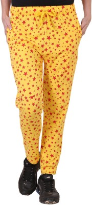Tab 91 Fashion Forecast Printed Women's Yellow Track Pants