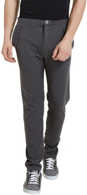 Elaborado Solid Men's Grey, Black Track Pants