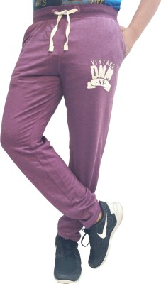 London Eye Solid Men's Purple, White Track Pants