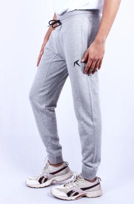 Repugn Solid Men's Grey Track Pants