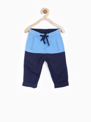 Yk Solid Baby Boy's Blue Track Pants