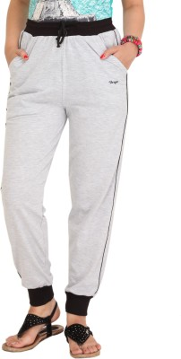 Colors & Blends Solid Women's Grey Track Pants