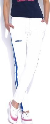 Harvard Solid Women's White Track Pants