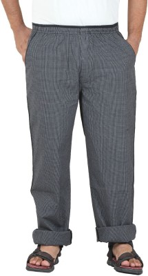 Sapper Self Design Men's Black Track Pants