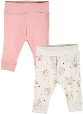 Mothercare Solid Baby Girl's White, Pink Track Pants