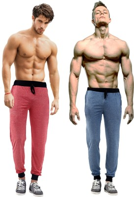 Billu Oye Solid Men's Red, Dark Blue Track Pants