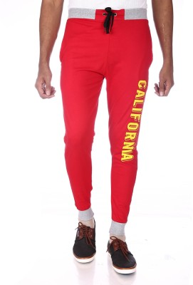Shootr Solid Men,s Red Track Pants
