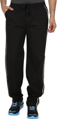 Masculine Affair Rich Make Solid Men's Black Track Pants