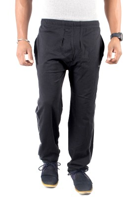 Spur Solid Men's Black Track Pants