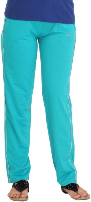 Colors & Blends Solid Women's Light Blue Track Pants
