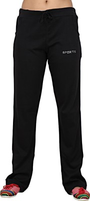 Sequeira Solid Women's Black Track Pants