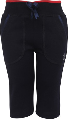 Cayman Solid Baby Girls Dark Blue Track Pants