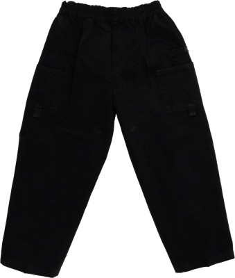 SETVEL Solid Boy's Black Track Pants