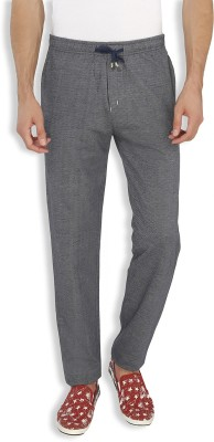 AVOQ-Style Reboot Self Design, Solid Men's Dark Blue Track Pants