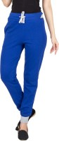 Campus Sutra Solid Women's Blue Track Pants