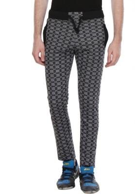 Glasgow Self Design Men's Black Track Pants