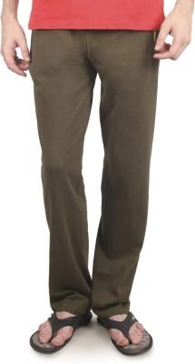 Cayman Fashion Solid Men's Dark Green Track Pants