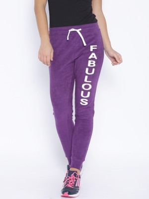 Silly People Solid Women's Purple Track Pants
