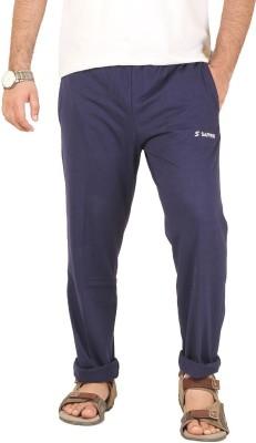 Sapper Solid Men's Denim Blue Track Pants