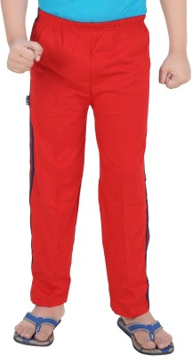 Mint Solid Boy's Red Track Pants