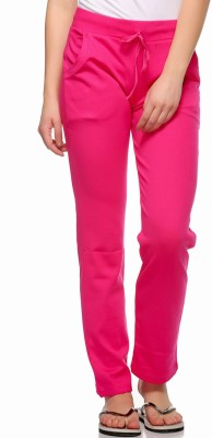 Fasnoya Solid Women's Pink Track Pants