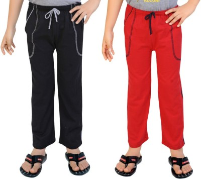 Be 13 Solid Baby Boy's Black, Red Track Pants