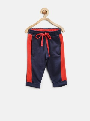 Yellow Kite Solid Baby Boy's Dark Blue Track Pants