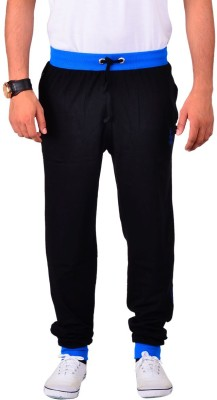 Vego Cotton Cuff Pant Solid Men's Black Track Pants at flipkart