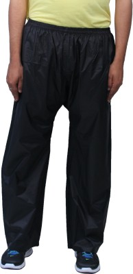 Romano Rain & Snow Resistant Solid Men's Black Track Pants