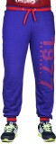 Finger's Printed Men's Blue Track Pants